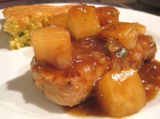 Pork Chops Hawaiian & Jalapeno Corn Bread