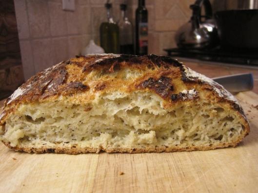 Onion Seed Bread sliced