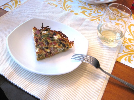 Sweet Potato Crusted Goat Cheese Quiche