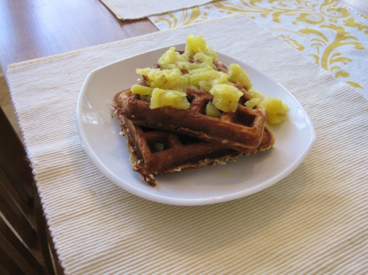 Coconut Greek Yogurt Waffles