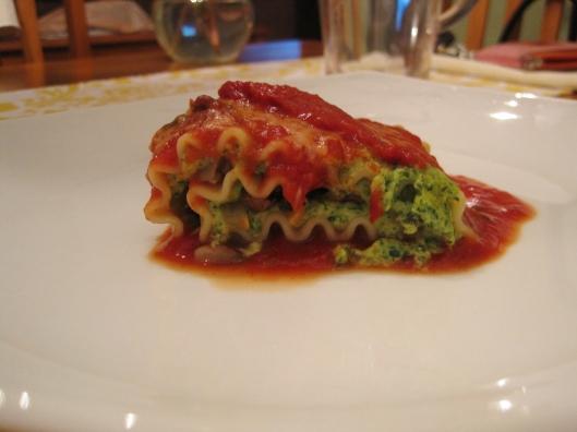 Spinach Mushroom Lasagna Rolls