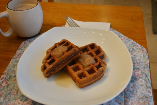 Apple Ricotta Corn Meal Waffles