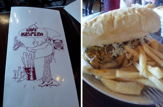 Oyster Po Boy at Cafe Maspero