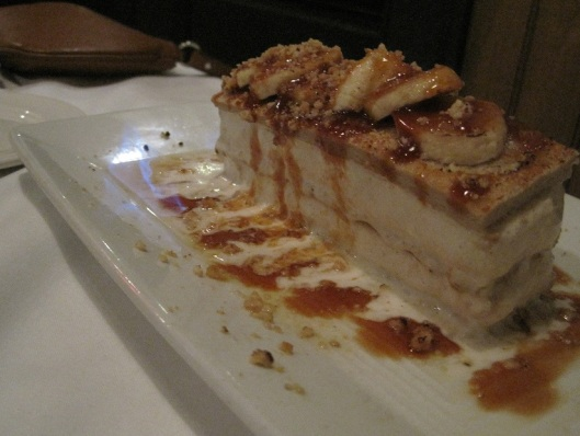 Bananas Foster Ice Cream Cake at Red Fish Grill