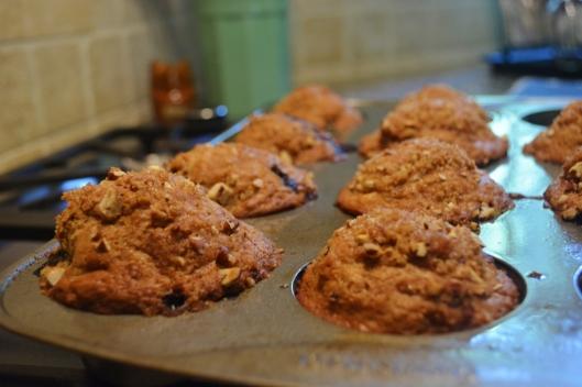 Fresh Blueberry Pecan Muffins