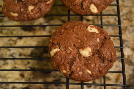 Double Chocolate Coconut Cookies