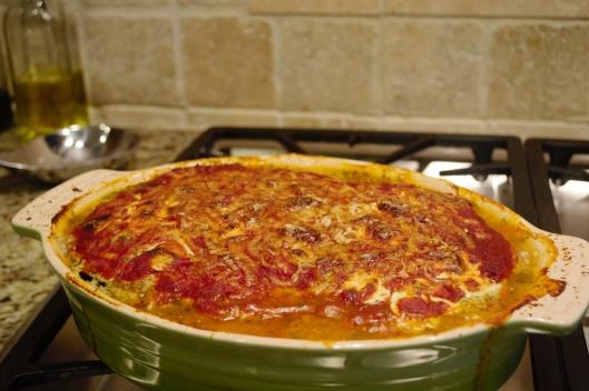 Italian Eggplant Cassrole - AGarlicGoddess.com