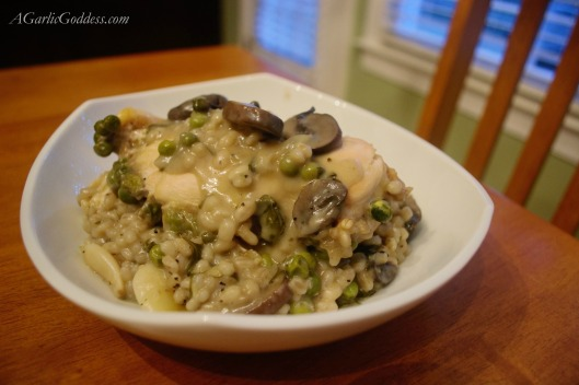Garlic Mushroom Chicken with Barley